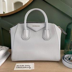 Givenchy Antigona Small Blue Sugar Satchel Bag
